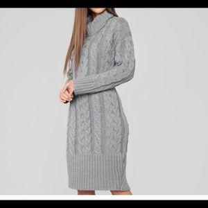 Gray sweater dress NWOT